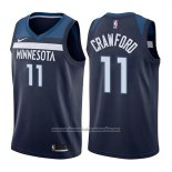 Camiseta Minnesota Timberwolves Jamal Murray #11 Crawford Icon 2017-18 Azul