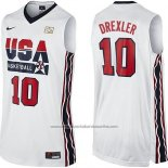 Camiseta USA 1992 Clyde Drexler #10 Blanco