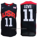 Camiseta USA 2012 Kevin Love #11 Negro