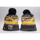 Gorro Beanie Golden State Warriors Azul Amarillo Gris
