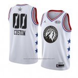 Camiseta All Star 2019 Minnesota Timberwolves Personalizada Blanco