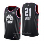 Camiseta All Star 2019 Philadelphia 76ers Joel Embiid #21 Negro