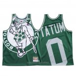Camiseta Boston Celtics Jayson Tatum NO 0 Mitchell & Ness Big Face Verde
