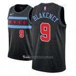 Camiseta Chicago Bulls Antonio Blakeney #9 Ciudad 2018-19 Negro