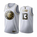 Camiseta Golden Edition Los Angeles Clippers Paul George NO 13 Blanco
