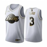 Camiseta Golden Edition Los Angeles Lakers Anthony Davis NO 3 Blanco