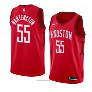 Camiseta Houston Rockets Isaiah Hartenstein #55 Earned 2018-19 Rojo