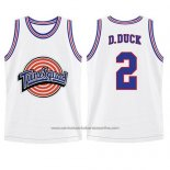 Camiseta Tune Squad Daffy Duck #2 Blanco