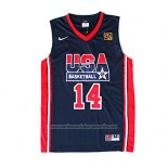 Camiseta USA 1992 Charles Barkley #14 Negro