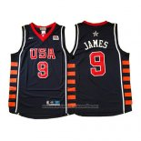 Camiseta USA 2004 Lebron James #9 Azul
