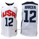 Camiseta USA 2012 James Harden #12 Blanco