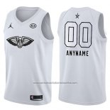 Camiseta All Star 2018 New Orleans Pelicans Nike Personalizada Blanco