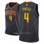 Camiseta Atlanta Hawks R.j. Hunter #4 Icon 2018 Negro