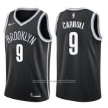 Camiseta Brooklyn Nets Demarre Carroll #9 Icon 2017-18 Negro