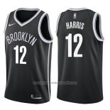 Camiseta Brooklyn Nets Joe Harris #12 Icon 2017-18 Negro