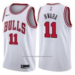 Camiseta Chicago Bulls David Nwaba #11 Association 2017-18 Blanco
