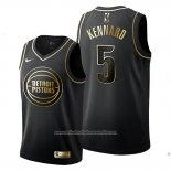 Camiseta Golden Edition Detroit Pistons Luke Kennard NO 5 Negro