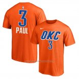 Camiseta Manga Corta Chris Paul Oklahoma City Thunder 2019-20Naranja