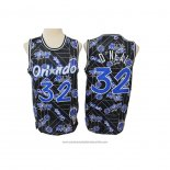 Camiseta Orlando Magic Shaquille O'Neal NO 32 Hardwood Classics Tear Up Pack Negro