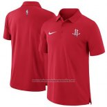 Camiseta Polo Houston Rockets Rojo