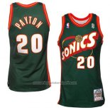 Camiseta Seattle SuperSonics Gary Payton #20 Historic Retro Verde