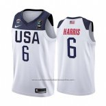 Camiseta USA Joe Harris #6 2019 FIBA Basketball World Cup Blanco