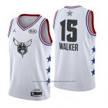 Camiseta All Star 2019 Charlotte Hornets Kemba Walker #15 Blanco