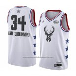 Camiseta All Star 2019 Milwaukee Bucks Giannis Antetokounmpo #34 Blanco