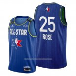 Camiseta All Star 2020 Detroit Pistons Derrick Rose NO 25 Azul