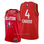 Camiseta All Star 2020 Los Angeles Lakers Alex Caruso NO 4 Rojo