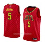 Camiseta Atlanta Hawks Malcolm Delaney #5 Statement 2018 Rojo