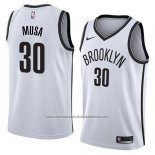 Camiseta Brooklyn Nets Dzanan Musa #30 Association 2018 Blanco