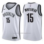Camiseta Brooklyn Nets Isaiah Whitehead #15 Association 2017-18 Blanco