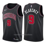 Camiseta Chicago Bulls Antonio Blakeney #9 Statement 2017-18 Negro