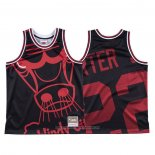Camiseta Chicago Bulls Otto Porter Jr. NO 22 Mitchell & Ness Big Face Negro
