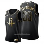 Camiseta Golden Edition Houston Rockets Robert Covington NO 33 2019-20 Negro