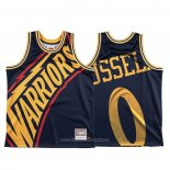 Camiseta Golden State Warriors D'angelo Russell NO 0 Mitchell & Ness Big Face Azul