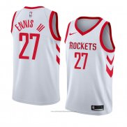 Camiseta Houston Rockets James Ennis III #27 Association 2018 Blanco
