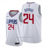 Camiseta Los Angeles Clippers Paul George NO 24 Association 2019-20 Blanco