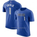 Camiseta Manga Corta Dennis Smith Jr. Dallas Mavericks Azul2