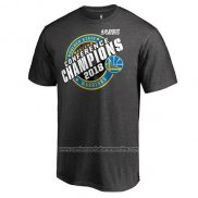 Camiseta Manga Corta Golden State Warriors Gris 2018 Western Conference Champions Keyhole Slogan