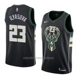 Camiseta Milwaukee Bucks Ersan Ilyasova #23 Statement 2018 Negro