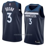 Camiseta Minnesota Timberwolves Anthony Brown #3 Icon 2018 Azul