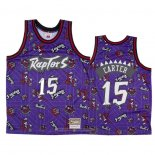 Camiseta Toronto Raptors Vince Carter NO 15 Hardwood Classics Tear Up Pack Violeta