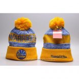 Gorro Beanie Golden State Warriors Amarillo Azul