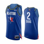 Camiseta All Star 2020 Los Angeles Lakers Anthony Davis NO 2 Autentico Azul