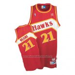 Camiseta Atlanta Hawks Dominique Wilkins #21 Retro Rojo