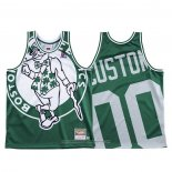 Camiseta Boston Celtics Personalizada NO 00 Mitchell & Ness Big Face Verde