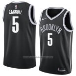 Camiseta Brooklyn Nets Demarre Carroll #5 Icon 2018 Negro