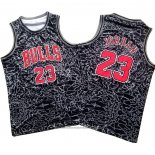 Camiseta Chicago Bulls Michael Jordan NO 23 Mitchell & Ness Negro2
